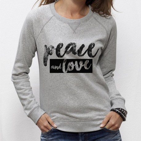 SWEAT SHIRT PEACE and LOVE