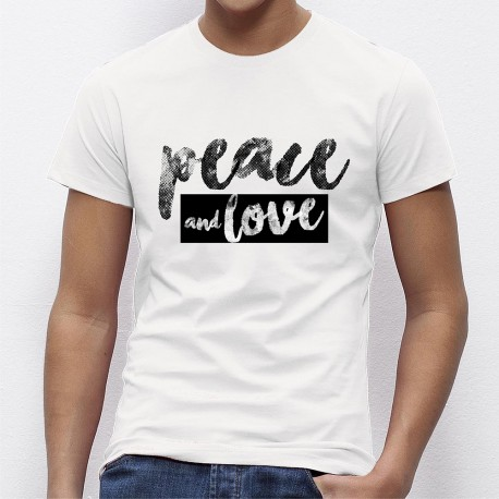 T-shirt homme PEACE AND LOVE