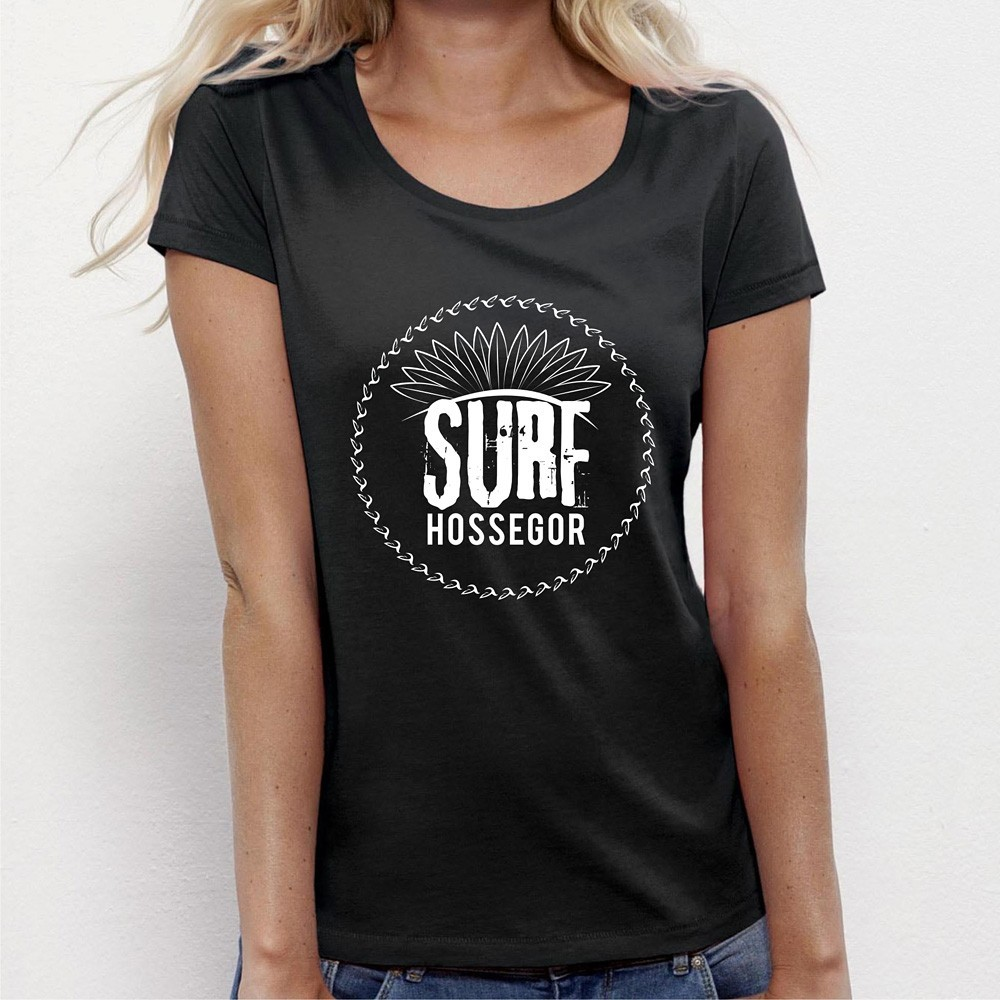 tee shirt femme original surf hossegor. Black Bedroom Furniture Sets. Home Design Ideas