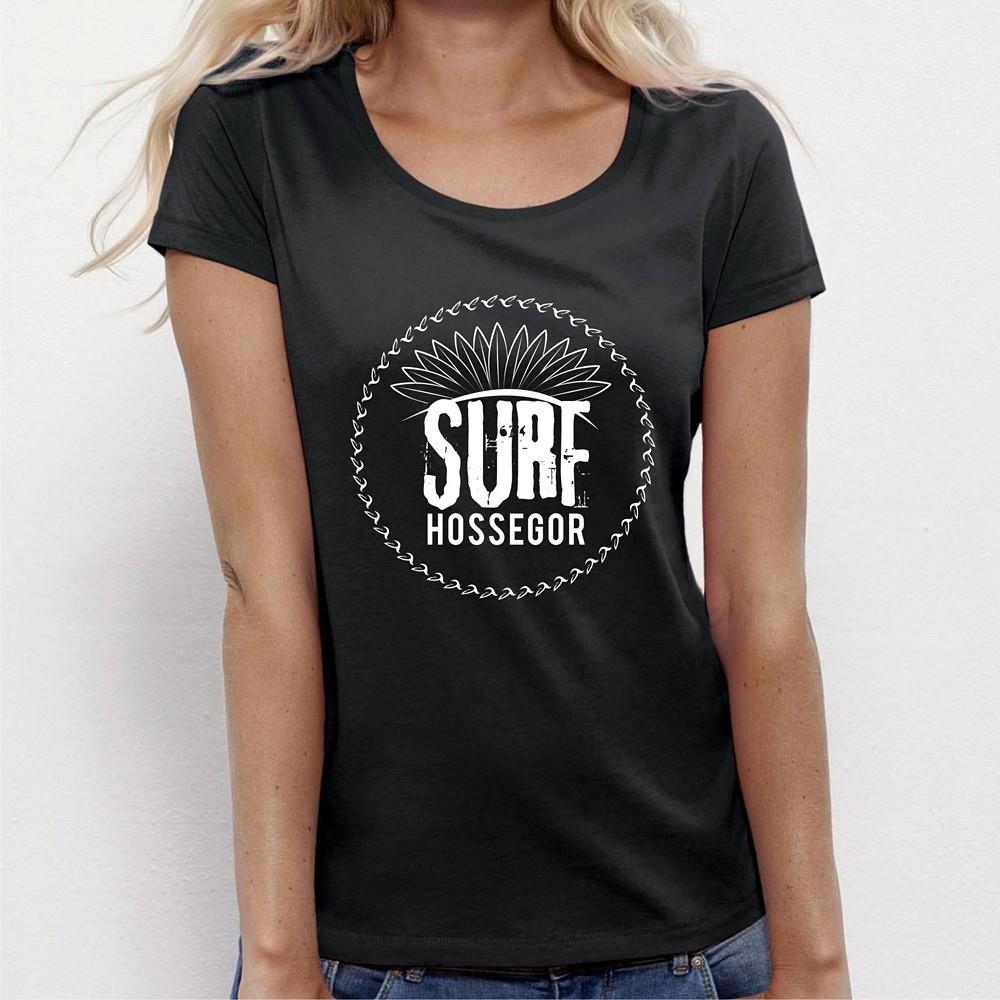 7ceefb08998 Tee shirt Femme original SURF Hossegor