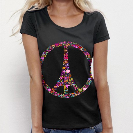 TSHIRT Je suis Paris Peace and Love
