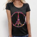 TSHIRT Femme Peace and Love PARIS