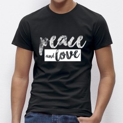 Tee Shirt homme PEACE AND LOVE