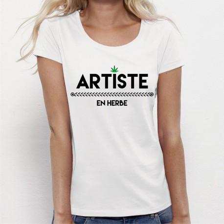 5c26ef3446e T-shirt femme ARTISTE en herbe