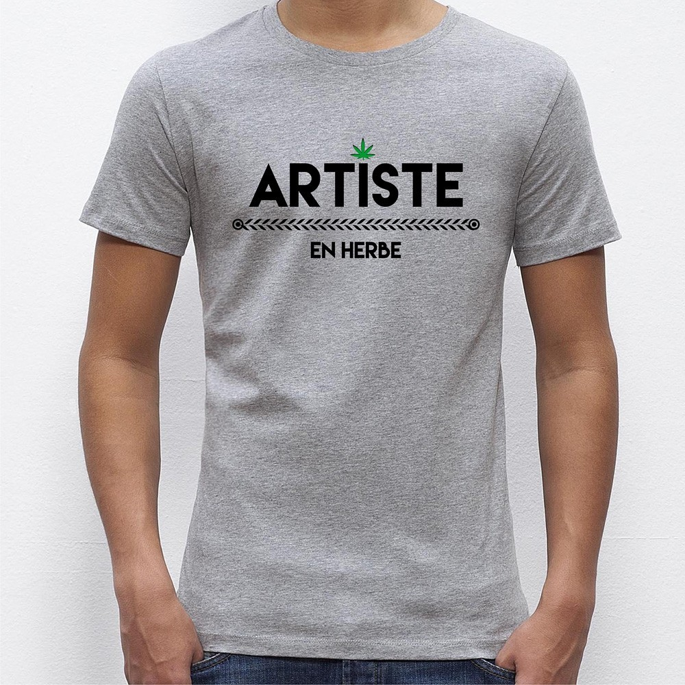 t shirt homme original artiste en herbe. Black Bedroom Furniture Sets. Home Design Ideas