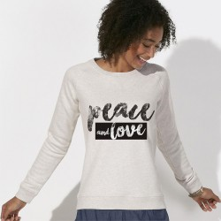Sweat original femme PEACE and LOVE