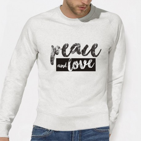 Peace and Love SWEAT ORIGINAL Homme