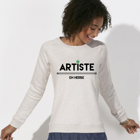 """Sweat femme - """"Artiste en Herbe"""""""