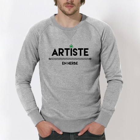 "SWEAT homme original - ""Artiste en Herbe"""