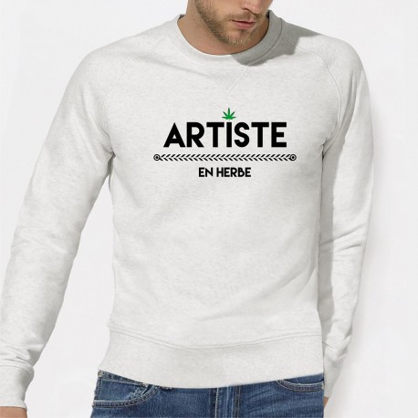 "SWEAT cannabis homme tendance - ""Artiste en Herbe"""