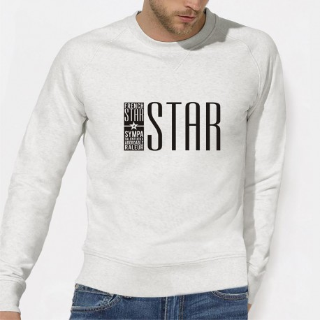 "SWEAT tendance homme - ""FRENCH STAR"""