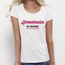 T-shirt mode - Amoureuse du Chocolat