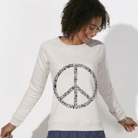 SWEAT Vintage femme - PEACE and LOVE