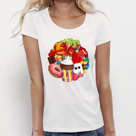 """T-shirt femme Kawaii """"MIAM"""""""