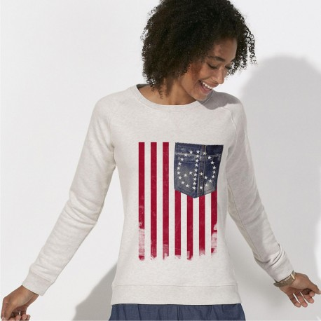 SWEAT femme America -Peace & Love-