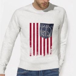 SWEAT homme Americain
