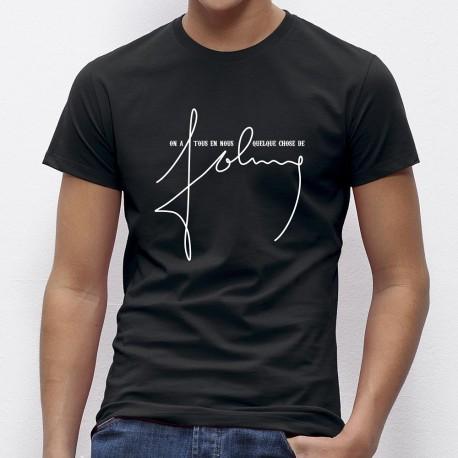 tshirt Johnny hallyday
