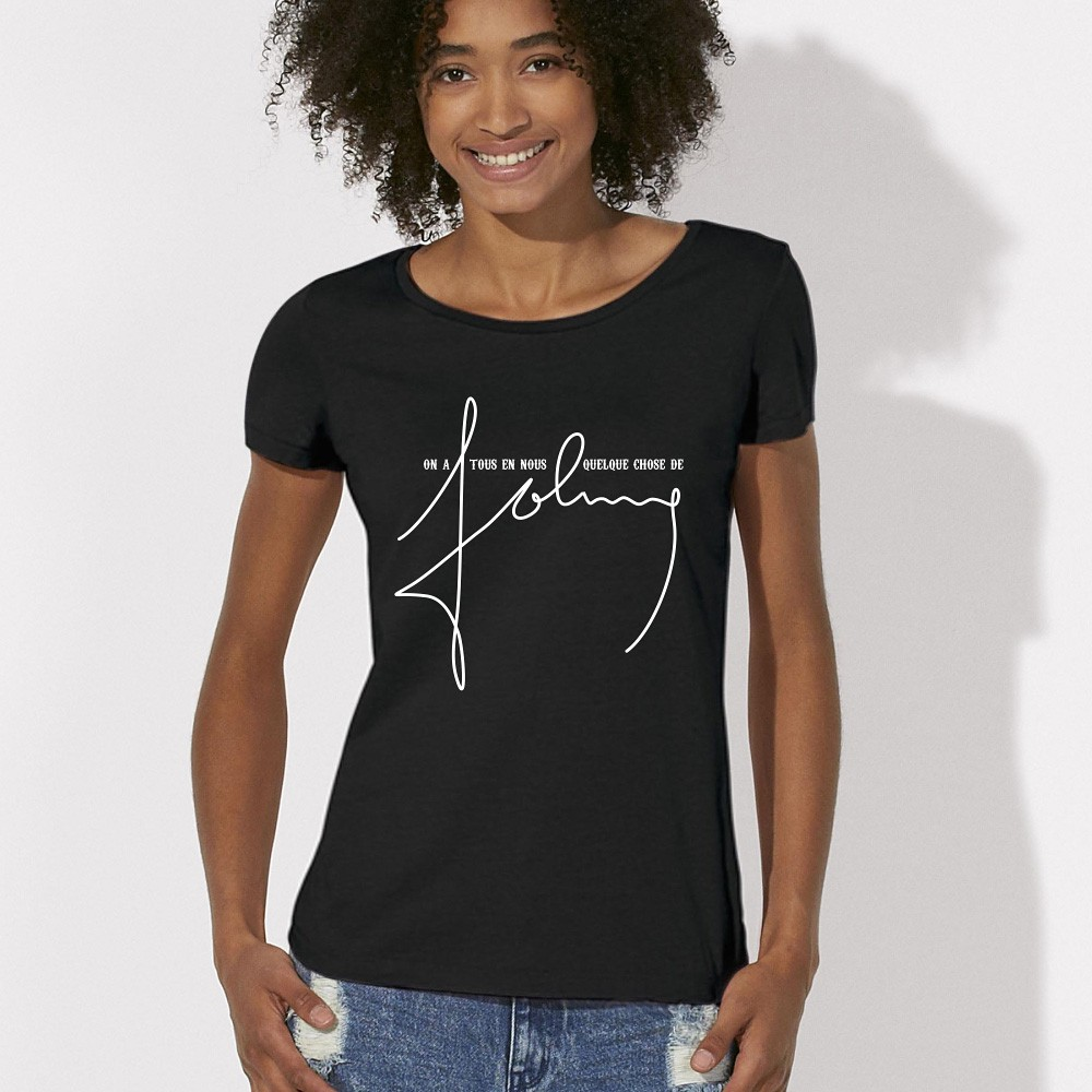 t shirt femme johnny hallyday